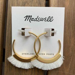 Madewell NWT white fringe earrings